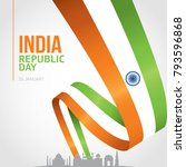 indian republic day 26 january... | Shutterstock .eps vector #793596868