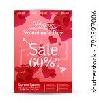 valentine's day sale poster...   Shutterstock .eps vector #793597006
