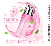 sakura nature essence water ... | Shutterstock .eps vector #793601290