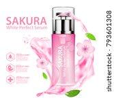 sakura nature essence water ... | Shutterstock .eps vector #793601308