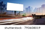 billboard blank for outdoor... | Shutterstock . vector #793608019
