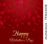 valentine's greeting card with... | Shutterstock .eps vector #793614658