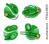 tennis sport club or... | Shutterstock .eps vector #793614853