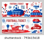 soccer cup championship tickets ... | Shutterstock .eps vector #793615618