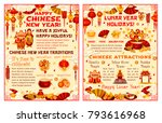 chinese new year lunar holiday... | Shutterstock .eps vector #793616968
