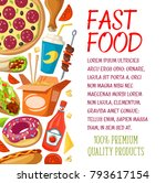 fast food poster for fastfood... | Shutterstock .eps vector #793617154
