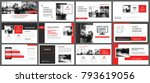 red presentation templates and... | Shutterstock .eps vector #793619056