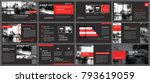 red and black element for slide ... | Shutterstock .eps vector #793619059