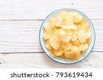 potato chips on plate  ... | Shutterstock . vector #793619434