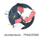 indigestion and poor health.... | Shutterstock .eps vector #793625500