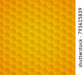 honeycomb pattern background  | Shutterstock .eps vector #793625839