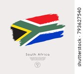 flag of south africa in grunge... | Shutterstock .eps vector #793627540