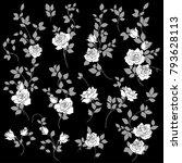 rose flower illustration  i... | Shutterstock .eps vector #793628113