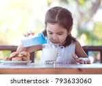 cute asian little child girl... | Shutterstock . vector #793633060