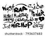 modern graffiti tags on a white ... | Shutterstock .eps vector #793637683