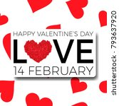 happy valentine's day... | Shutterstock .eps vector #793637920