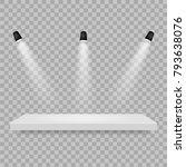 spotlights shine on the platform | Shutterstock .eps vector #793638076