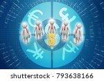 3d people around dollar sign | Shutterstock . vector #793638166