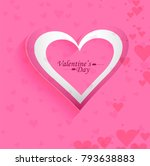beautiful valentine's... | Shutterstock .eps vector #793638883