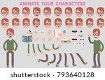 flat vector guy character for... | Shutterstock .eps vector #793640128