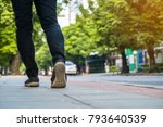 young woman traveller walking...   Shutterstock . vector #793640539