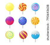 realistic detailed 3d lollipops ...   Shutterstock .eps vector #793643638