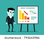 sad businessman stands near... | Shutterstock .eps vector #793643986