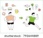 health concept. bad habits.... | Shutterstock .eps vector #793644889