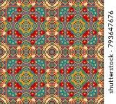 geometric seamless pattern.... | Shutterstock .eps vector #793647676
