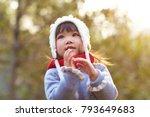 portrait of happy little asian... | Shutterstock . vector #793649683