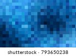 dark blue vector blurry... | Shutterstock .eps vector #793650238