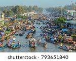 mekong delta  vietnam   feb 2 ... | Shutterstock . vector #793651840