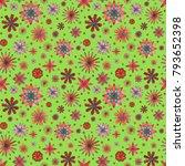 abstract floral summer seamless ... | Shutterstock . vector #793652398