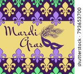 mardi gras background with... | Shutterstock .eps vector #793653700
