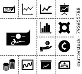 profit icons. set of 13... | Shutterstock .eps vector #793655788