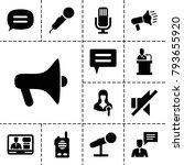 speak icons. set of 13 editable ... | Shutterstock .eps vector #793655920