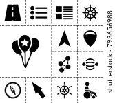 navigation icons. set of 13... | Shutterstock .eps vector #793656988