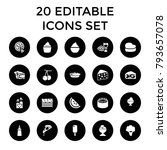 delicious icons. set of 20... | Shutterstock .eps vector #793657078