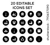 environment icons. set of 20... | Shutterstock .eps vector #793657090