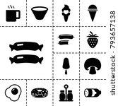 tasty icons. set of 13 editable ... | Shutterstock .eps vector #793657138