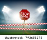 road sign with the word stop... | Shutterstock .eps vector #793658176