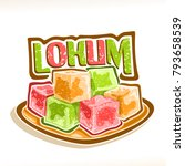 vector illustration of lokum ... | Shutterstock .eps vector #793658539