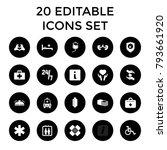 help icons. set of 20 editable...   Shutterstock .eps vector #793661920