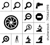 zoom icons. set of 13 editable... | Shutterstock .eps vector #793661998