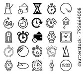 clock icons. set of 25 editable ... | Shutterstock .eps vector #793664008