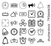 alarm icons. set of 25 editable ... | Shutterstock .eps vector #793664638