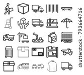 delivery icons. set of 25... | Shutterstock .eps vector #793664716