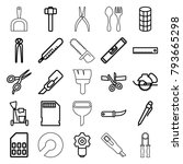 tool icons. set of 25 editable... | Shutterstock .eps vector #793665298