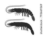 shrimp silhouette. isolated... | Shutterstock .eps vector #793669369
