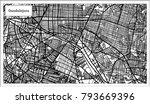 guadalajara mexico city map in...   Shutterstock . vector #793669396